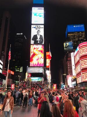 2017 Time Square Feature of Cobus Gomes · By: Cobus Gomes