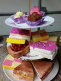 Fake fancy cakes · By: karen davies