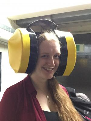Large comedy ear defenders · By: karen davies