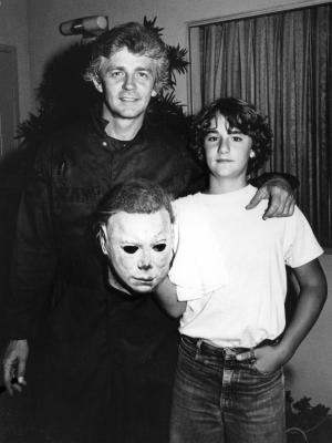 1981 Dick and Lance Warlock on the set of Halloween II · By: Kim Gottlieb