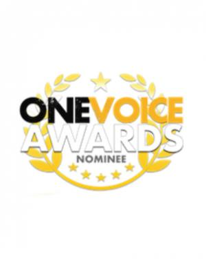 2018 One Voice Nominee Badge · By: One Voice