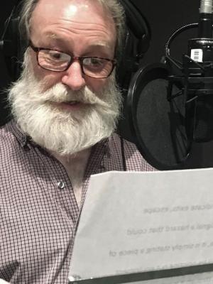 Melvyn Rawlinson in the studio