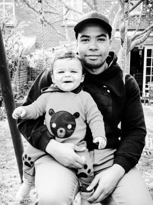 2018 Partner and son · By: Raquel Moreno