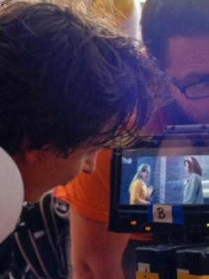 """Myself and Tobias Marshall on set """"the conductor"""""""