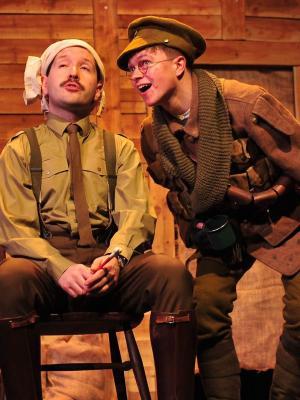 2018 Matt Hansen (R) as Baldrick in Blackadder Goes Forth (CODS, 2018, Cheltenham Playhouse) · By: Trevtography