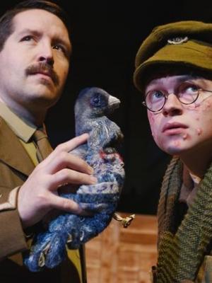 2018 Matt Hansen (R) as Baldrick in Blackadder Goes Forth (CODS, 2018, Cheltenham Playhouse) · By: Simon Pizzey
