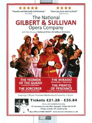 wardrobe manager 2015/16/17/ national gilbert and sullivan company  4 operas each year no assistants just me all requirements            200 costumes / in weekly rep harrogate / no 1 tour · By: denis blatchford