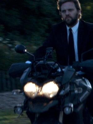 2018 Motorbiking on set · By: Mark Morris