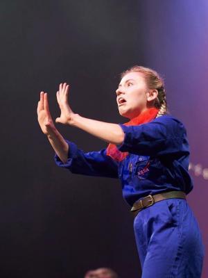 Miss Palmer in 'Rocket Girl'