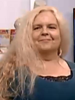 Anette Pollner modelling live TV