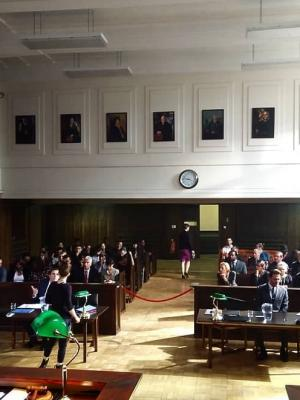 US Courtroom Film Set - 'Outwitting the Devil' · By: Amy Mitchell