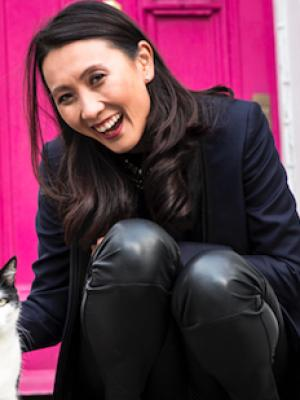 Alice Lee with Cat