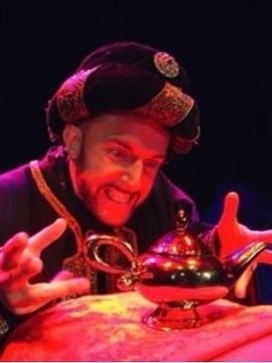"""Abanaza in """"Aladdin"""" (Hazlitt Theatre)"""