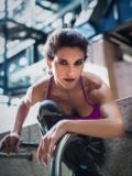 2018 Manuela Maletta gym sporty shot · By: aslam husain photography