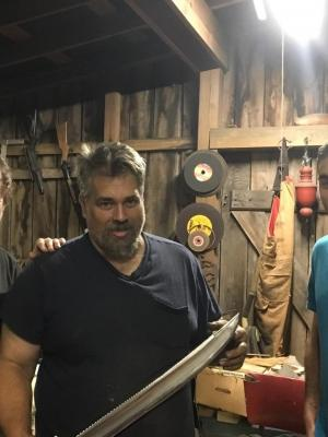 """2018 On location off """"Forged in Fire"""" for The History Channel with winner """"Mark Sperry"""" · By: Tom Phillips"""