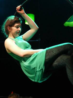 2014 Aerial hoop performance photo from The Frogs · By: Nick Rutter