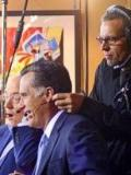 2008 Onset for Morning Joe. Miking-up Mitt Romney. · By: Garce Garcia