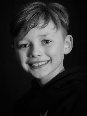 Black and White Headshot for production of 'Oliver!'