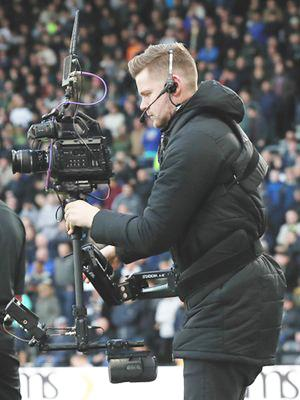 Steadycam filming at Derby County FC for RamsTV