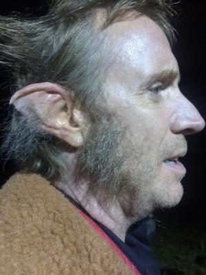 Stella McCartney Campaign. Wolf ears for actor Rhys Ifans, made by me