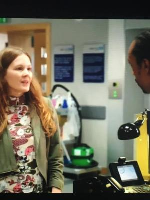 2017 Mrs Gowers · By: on set of BBC Casualty