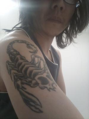 2019 Tattoo - scorpion - right upper arm · By: Jason Yip