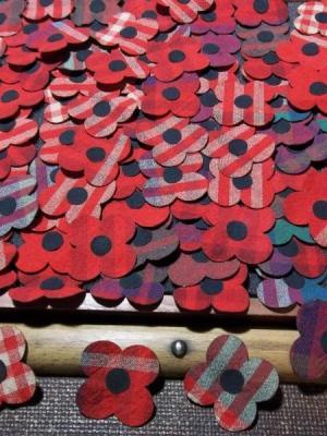 Fabric Rememrance Day Poppies (Scotland) · By: Joe Garton