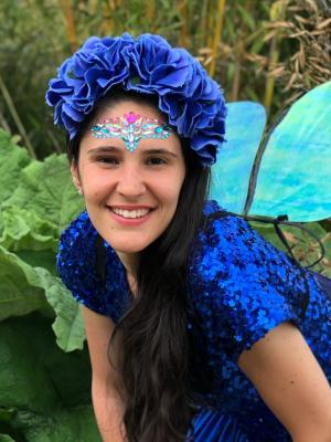 2019 Blue Fairy at Party · By: Victoria Ruskin