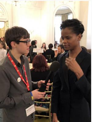 2019 Interviewing Letitia Wright at the Place2Be awards · By: Lisa Prime