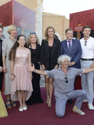 "2019 With the director, producers and cast of ""I'll Find You' at the Taormina Film Festival · By: I'll Find You"