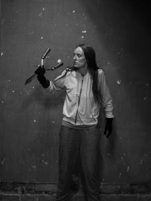 Madame in the Chronicles of Disobedience rehearsal shot
