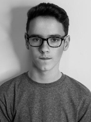 B&W Headshot with glasses