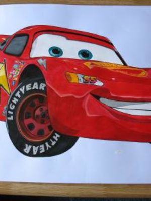 Cars character 'Lightening Mcqueen' · By: Roxane Thomas