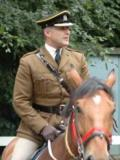 2008 Major Michael Aston CMOF in Mounted Service Dress · By: Privately taken for M. Aston
