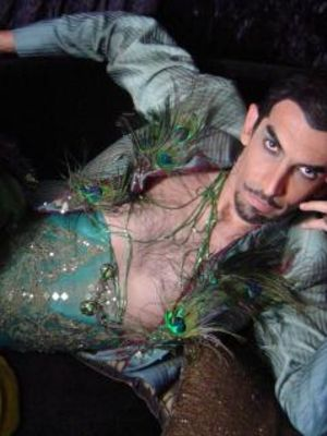 Hernán del Riego in Cabaret Songs by Unexpected Authors, costume design: Eloise Kazan