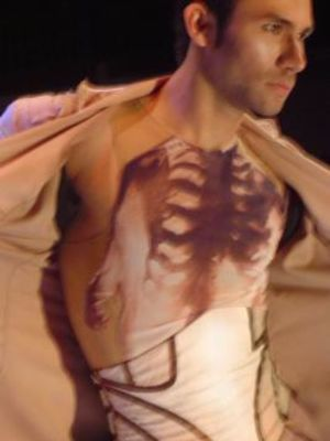 a scene from When Costumes are Hung, Delfos Dance Company, costume design : Eloise Kazan