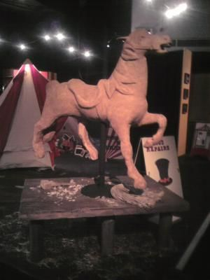Carousel Horse to look as though still in the workshop · By: Sophie Paterson