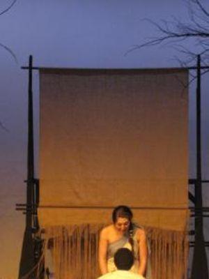 The Penelopiad 10ft weaving loom · By: Dani Graves