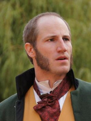 Adrian Fear as Mr Darcy in PRIDE AND PREJUDICE, Heartbreak Productions