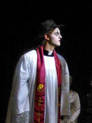 Stilt-Walking Priest from Three-Penny Opera