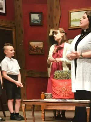 Kaiden as cheeky archie in vicar of dibley stage production