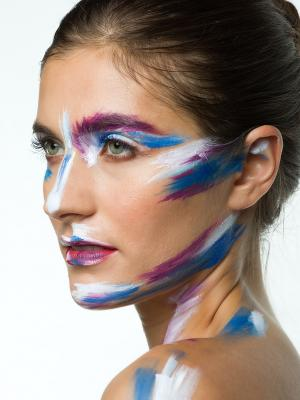 2019 Face painting on model · By: Paul Keet