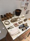 Rehearsal props table · By: Alice Loizel