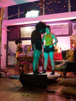 Party Scene set for 'In My Arms' music video