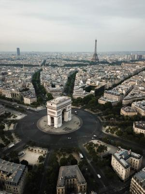 2019 Arc De Triomphe & Eiffel Tower, Paris shot by drone · By: Ethan Parker