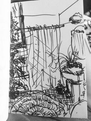 2018 Sketch of a bathroom for a commercial · By: Olivia Culotta