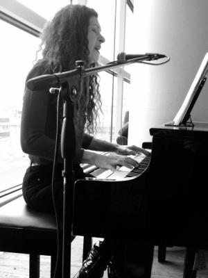Andrea Performing at Heathrow Airport