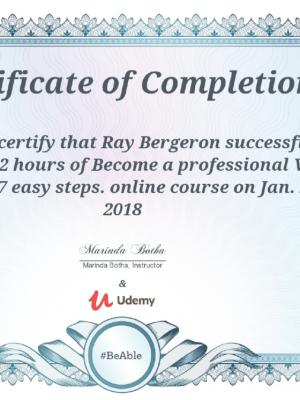 2018 Voiceover in 7 Steps Certificate of Completion