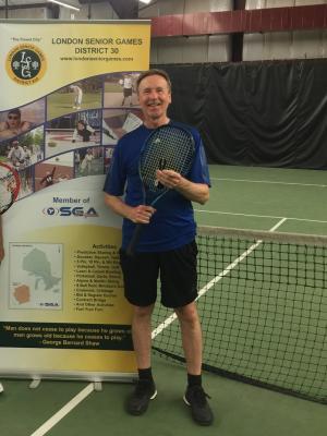 2018 Michael Larion at Tennis Senior Games · By: Michael Larion
