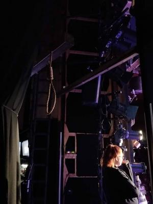 Watching as 'safety office' for all noose work onstage, Moll Flander, 2018.